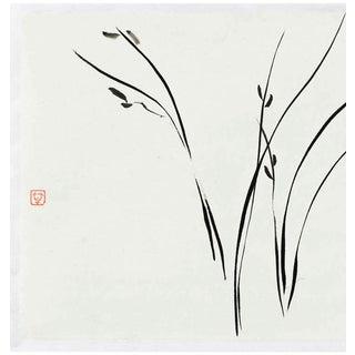 """Ayan Rivera """"Bearable Lightness"""" Sumi Ink Original Painting For Sale"""
