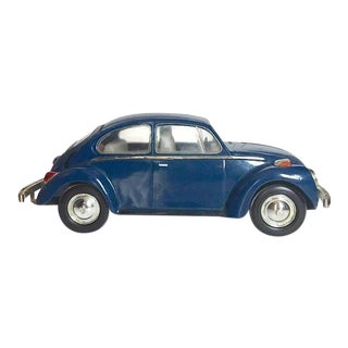 Vintage Volkswagen Beetle Decanter Jim Beam Collectible Metal VW Bug For Sale