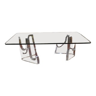 "Mid Modern ""Iceberg"" Dining Table by Lion in Frost c.1970"