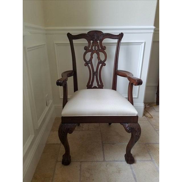 Ethan Allen Chauncey Dining Chairs - Set of 6 - Image 8 of 11