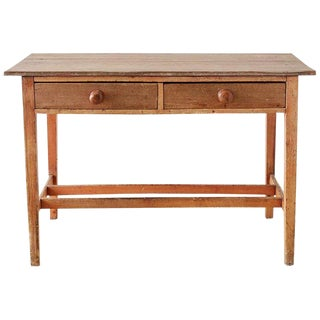 English Country Farmhouse Writing or Work Table For Sale