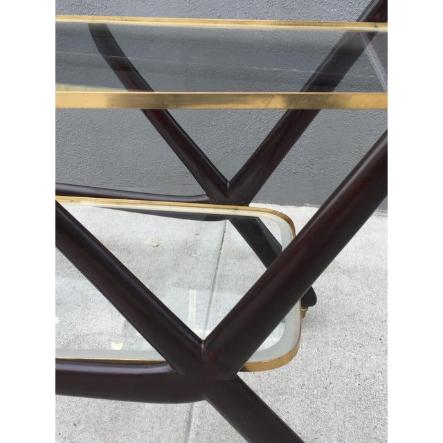 Brass 1950s Vintage Italian Cesare Lacca Bar Cart For Sale - Image 7 of 10