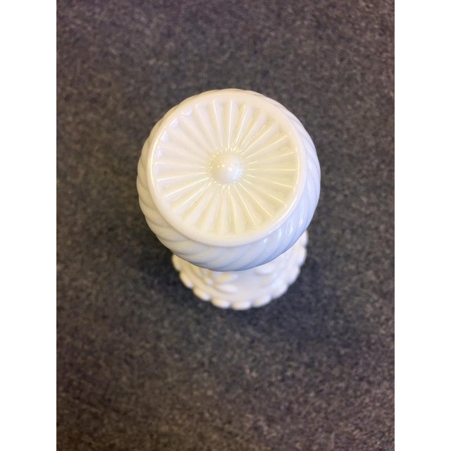 1960s Milk Glass Bottle With Cork Top For Sale - Image 4 of 8