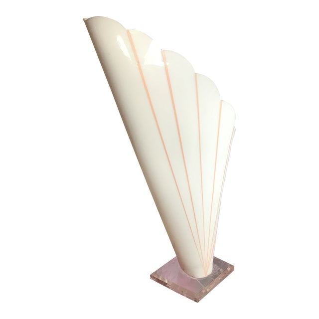 Lucite Table Lamp Styled After Rougher For Sale