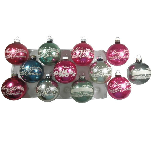 Merry Christmas Stencil Ornaments - Set of 12 - Image 4 of 4