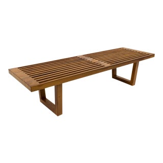George Nelson Style Mid-Century Slat Bench