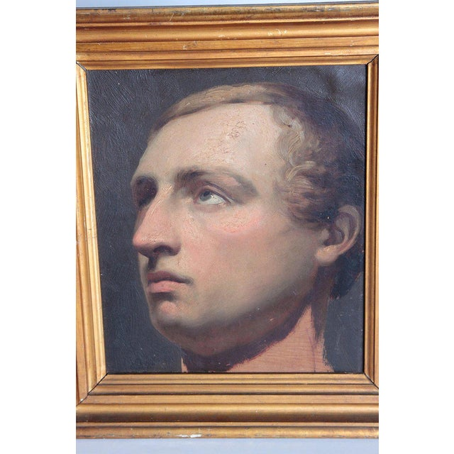 Realism Portrait of a Young Man by Willem Hendrik Schmidt (1809-1849) Dutch For Sale - Image 3 of 13
