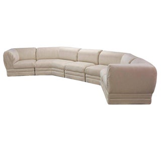 Thayer Coggin Ivory White Sectional Sofa Milo Baughman Restored For Sale