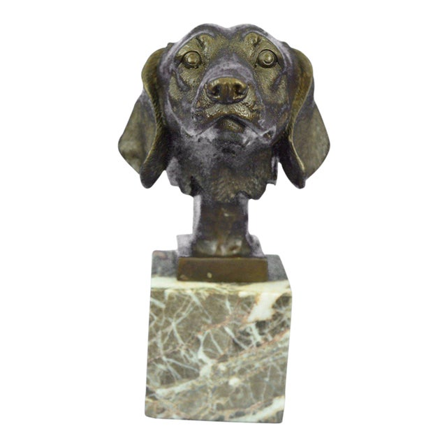 Dachshund Bust Bronze Sculpture For Sale