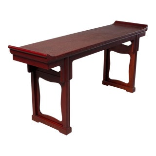 Vintage Baker Furniture Chinese Altar Style Console For Sale