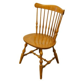 20th Century British Colonial Ethan Allen Heirloom Nutmeg Maple Governor Bradford Side Chair Preview