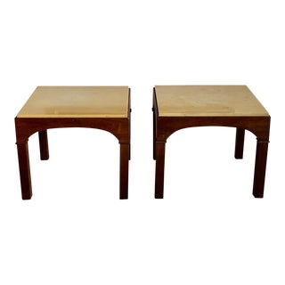 Asian Modern John Keal for Brown Saltman Occasional Tables - a Pair For Sale