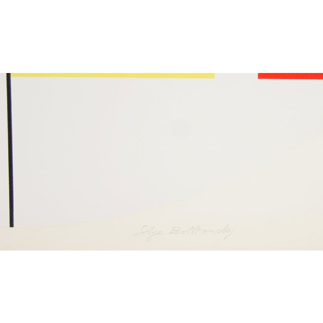 """This silkscreen, titled """"Series 6,"""" was created by the Russian American artist, Ilya Bolotowsky (1907–1981), in 1970. It..."""
