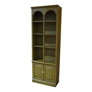 Vintage Ethan Allen Green Cottage Style Bookcase