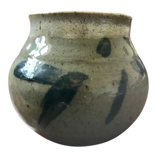 Mid-Century Modern Signed Studio Pottery Vessel For Sale