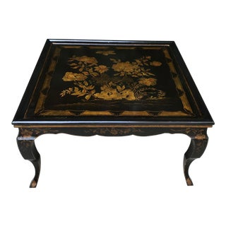 1930s Chinoiserie Handpainted Coffee Table For Sale