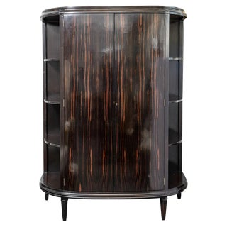 Art-Deco Style Macassar & Ebony Armoire by Dessin Fournier in California For Sale
