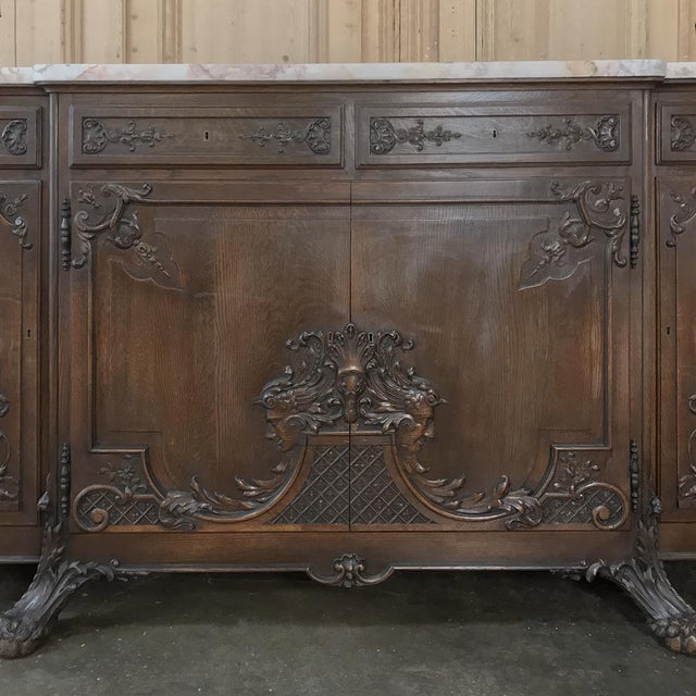 Late 19th Century 19th Century French Louis XIV Marble Top Buffet For Sale - Image 5 of 13