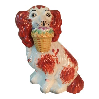 Staffordshire Style King Charles Spaniel Dog Figure For Sale