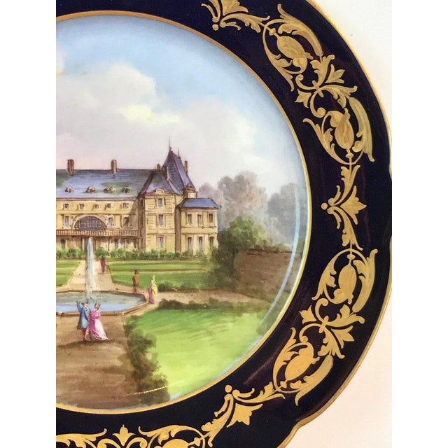 Pair of Sevres Chateau Plates For Sale - Image 10 of 13