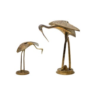 """12"""" and 7.5"""" Brass Cranes - a Pair For Sale"""