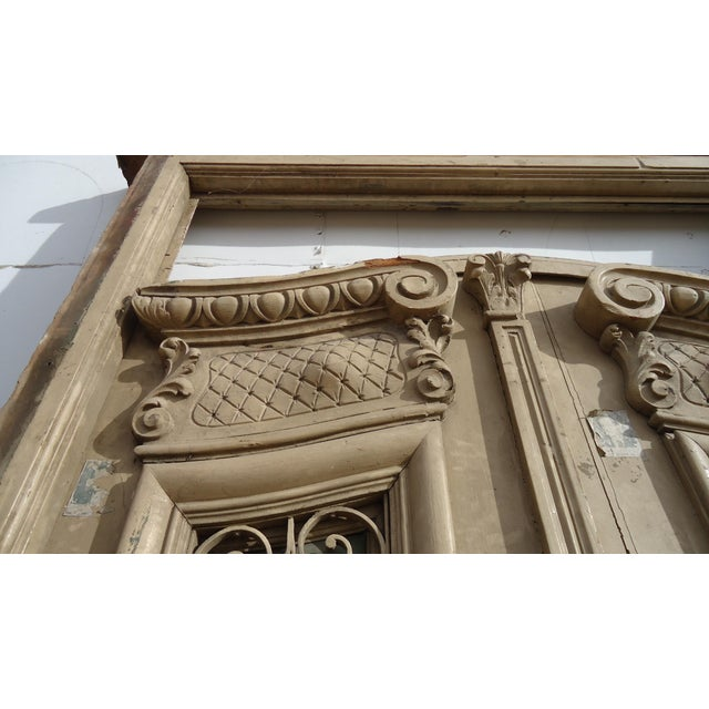 Antique Ornate South American Doors - A Pair For Sale - Image 4 of 11