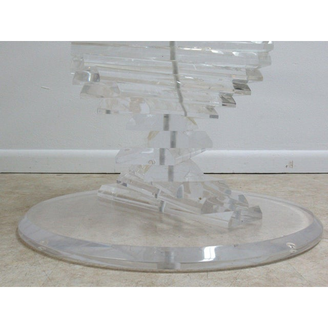 Vintage Interior Concepts Stack Lucite Dinette Dining Table For Sale In Philadelphia - Image 6 of 11