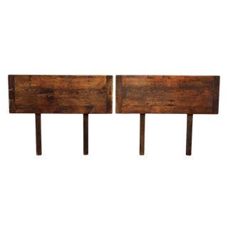Barnwood Twin Headboard Set For Sale