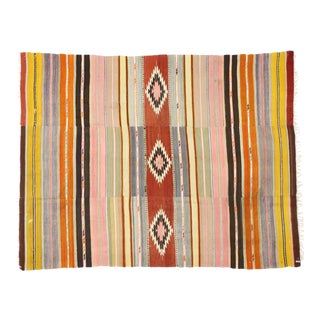 Vintage Turkish Kilim Rug With Southwestern Bohemian Style - 05'06 X 07'02 For Sale