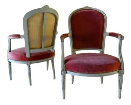 Image of Newly Made Louis XVI Bergere Chairs