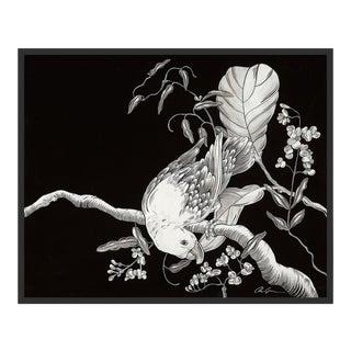 Descant by Allison Cosmos in Black Framed Paper, Medium Art Print For Sale