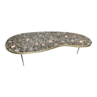 1960s Mid-Century Modern Unusual Tile Biomorphic Coffee Table
