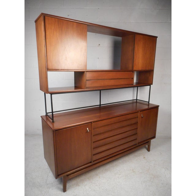 Vintage Modern Credenza With Topper by Stanley For Sale - Image 13 of 13