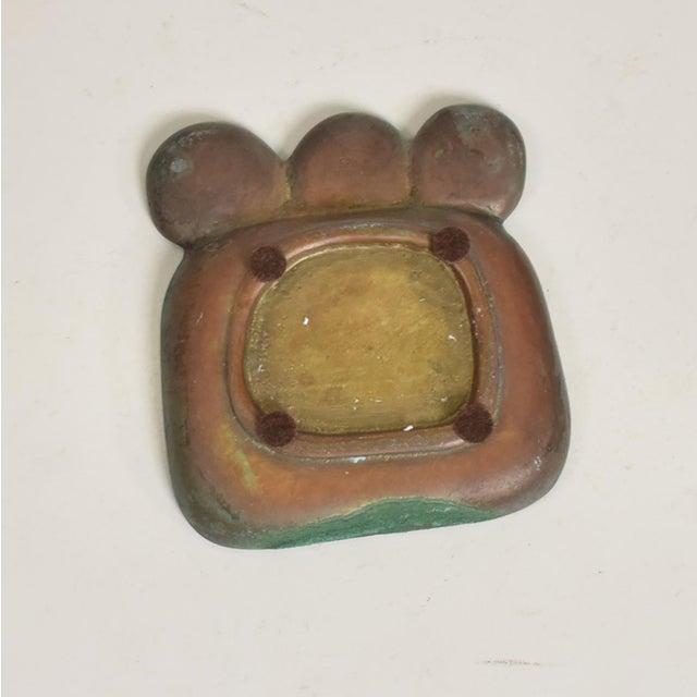 1950s Mid Century Modern Pepe Mendoza Dish, Patinated Brass & Malachite For Sale - Image 5 of 7