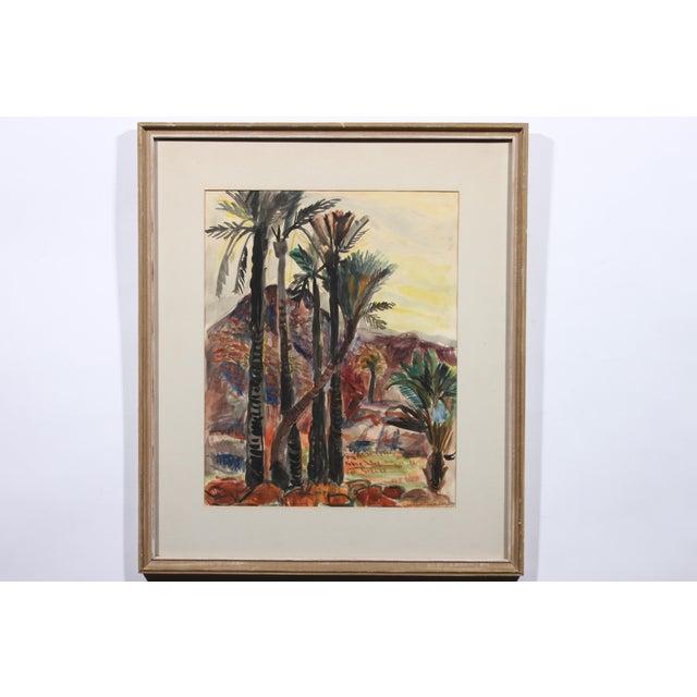 """""""Bending Palm"""" Original Watercolor - Image 2 of 3"""