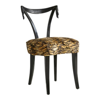 Tassel Motif Grosfeld House Chair in Animal Print Upholstery For Sale
