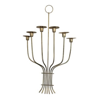 Tommi Parzinger Style Mid-Century Modern Chrome Candle Sconce