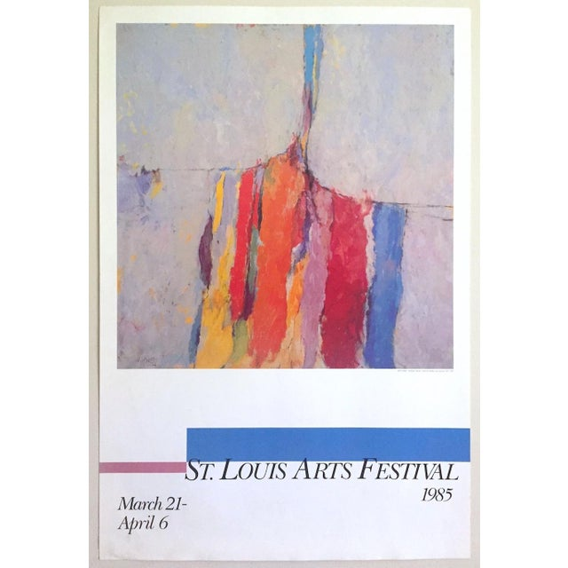 Arthur Osver Vintage 1985 Abstract Expressionist Lithograph Print St. Louis Arts Festival Exhibition Poster For Sale - Image 13 of 13