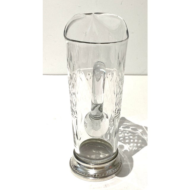 Mid 20th Century Vintage Glass and Sterling Pitcher For Sale - Image 5 of 10