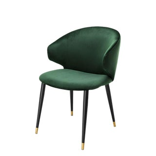 Eichholtz Volante Green Velvet Dining Chair
