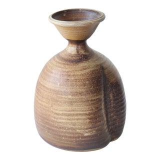 1960s Mid-Century Studio Ceramic Stoneware Vase For Sale