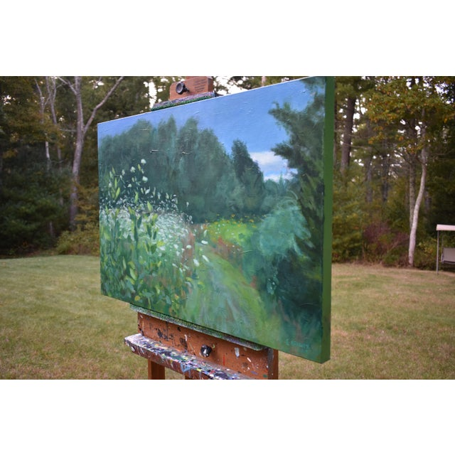 """Contemporary Plein Air Painting by Stephen Remick, """"Uphill, Into the Sun"""" For Sale - Image 9 of 13"""