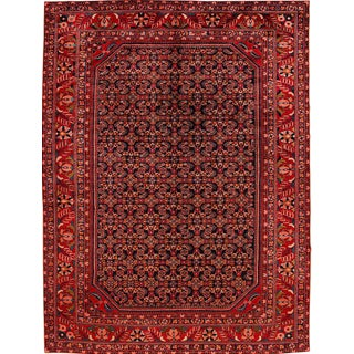 "Apadana - Vintage Distressed Red All-Over Persian Malayer Rug, 9'10"" x 13'"