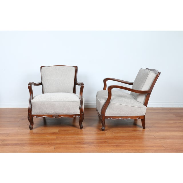 1940's Reupholstered Chair - Pair - Image 3 of 11
