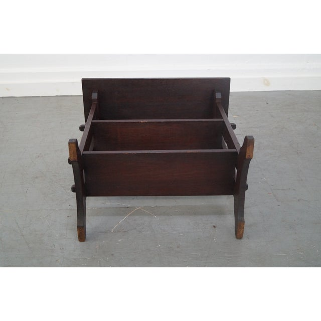 Brown Roycroft Antique Mission Mahogany Journeys Stand For Sale - Image 8 of 10