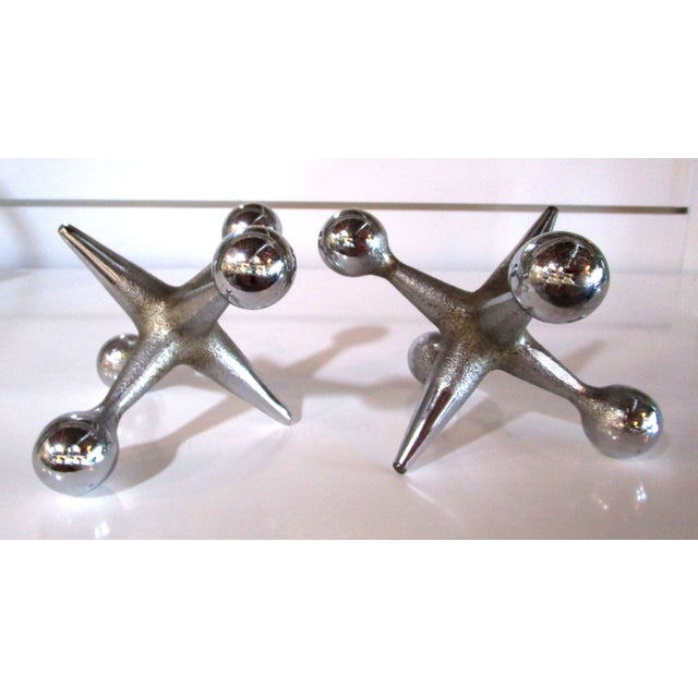 Mid-Century Modern Chrome Jacks - Image 3 of 6