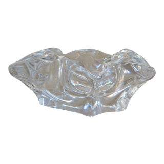Lead Crystal Big Cigar Ashtray For Sale