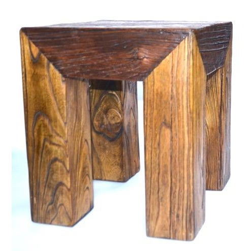 1980s Ron Mann Sand-Blasted Wood Side Table 1980s For Sale - Image 5 of 9