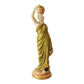 19th Century English Royal Worcester Grecian Fairy Lamp For Sale