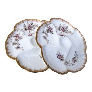 Vintage Limoges Oyster Plates - A Pair For Sale